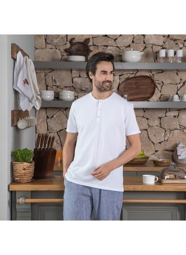 Chakra Hames Erkek T-Shirt Beyaz Beyaz